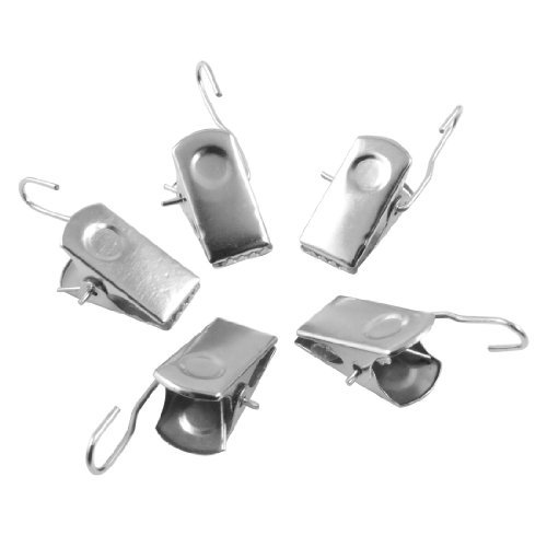 Uxcell Metal Sprung Curtain Drapery Clips 20 Pcs Silver