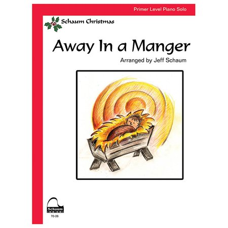 SCHAUM Away In A Manger Educational Piano Series - Drum Piano White Gloss