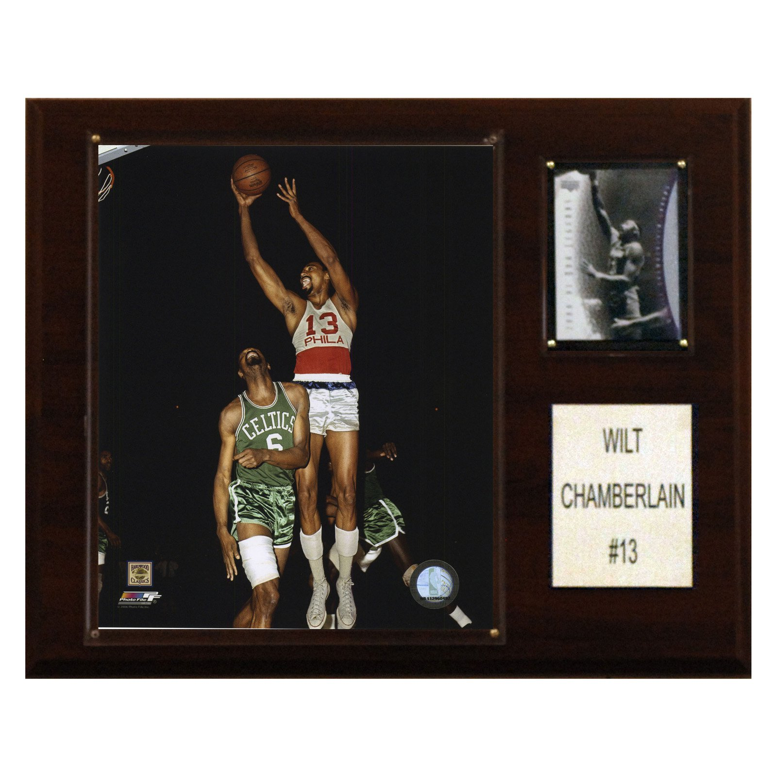 C&I Collectables NBA 12x15 Wilt Chamberlain Philadelphia 76ers Player Plaque