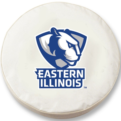 NCAA Tire Cover by Holland Bar Stool - EIU Panthers, White - 30 L x 10 W