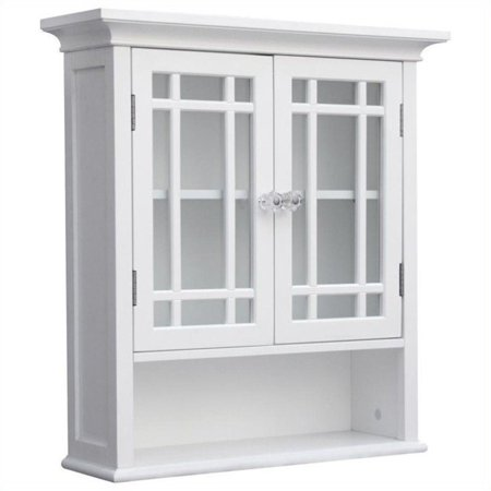 Elegant Home Fashions Neal 2 Door Wall Cabinet In White