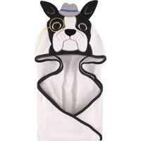 Hudson Baby Woven Terry Animal Hooded Towel, Dapper Dog