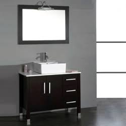 8118-BN 40 Espresso Bathroom Vanity Set with a Brushed Nickel Faucet""