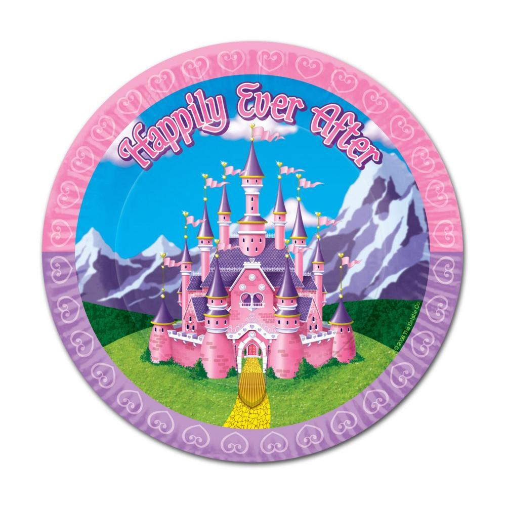 "(Pack of 96) 9"" Birthday Party Princess Plates"