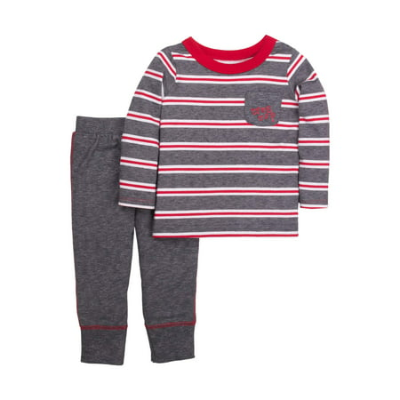 Little Star Organic Newborn Baby Boy Long Sleeve Top & Pant 2pc Outfit Set