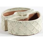 Alfresco Home Ceramic Trellis Umbrella Planter - Crema