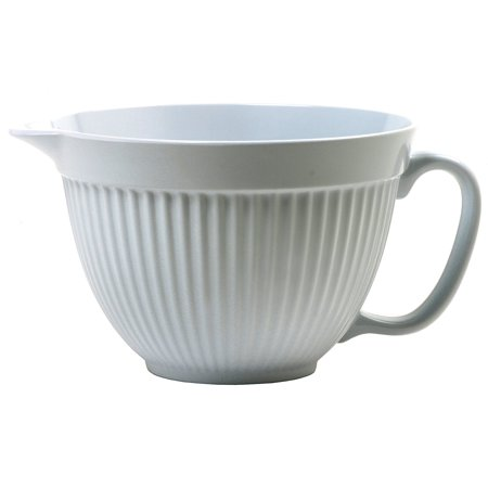 Grip-EZ 3-Quart Melamine Batter Bowl, White, Vertical Batter Mixing Melamine Bowls Steamer inches22cm Steel 820cm Krona Cooker White Quart 4.., By Norpro Ship from US ()