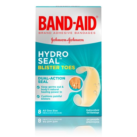 Band-Aid Brand Hydro Seal Adhesive Blister Toe Bandages, 8 Count Band Aid Advanced Healing Blister Cushions