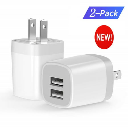 USB Wall Charger,USB Power Adapter Wall Charger Plug Box Charging Block Cube Brick Compatible with iPhone Xs X 8 7 6S Plus, iPad, Samsung, HTC, LG, Moto, Android Phone Charger (Htc 8x Car Charger)