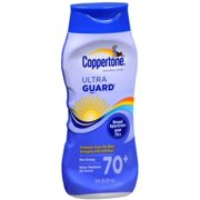 Coppertone UltraGuard Sunscreen Lotion SPF 70+ 8 oz (Pack of 2)