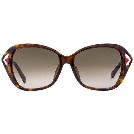 d7c0424845d5 Dior Rectangular Sunglasses Chromatic F 6LYHA Havana Matte Red 56mm -  Walmart.com