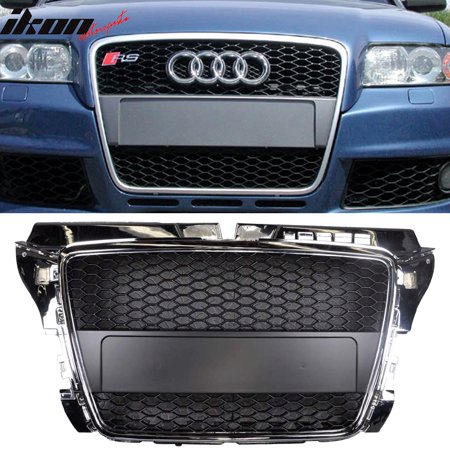 Ikon Motorsports Grille - Fits 08-11 Audi A3 RS Style Front Hood Grill Grille Chrome Black New