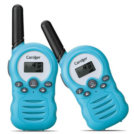 Caroger CR388A License-Free Children's Walkie Talkie Two-Way Radios Mini  FRS/GMRS 462/467MHZ 2 Piece Walkie Talkie Radio System Set, 22 Channels