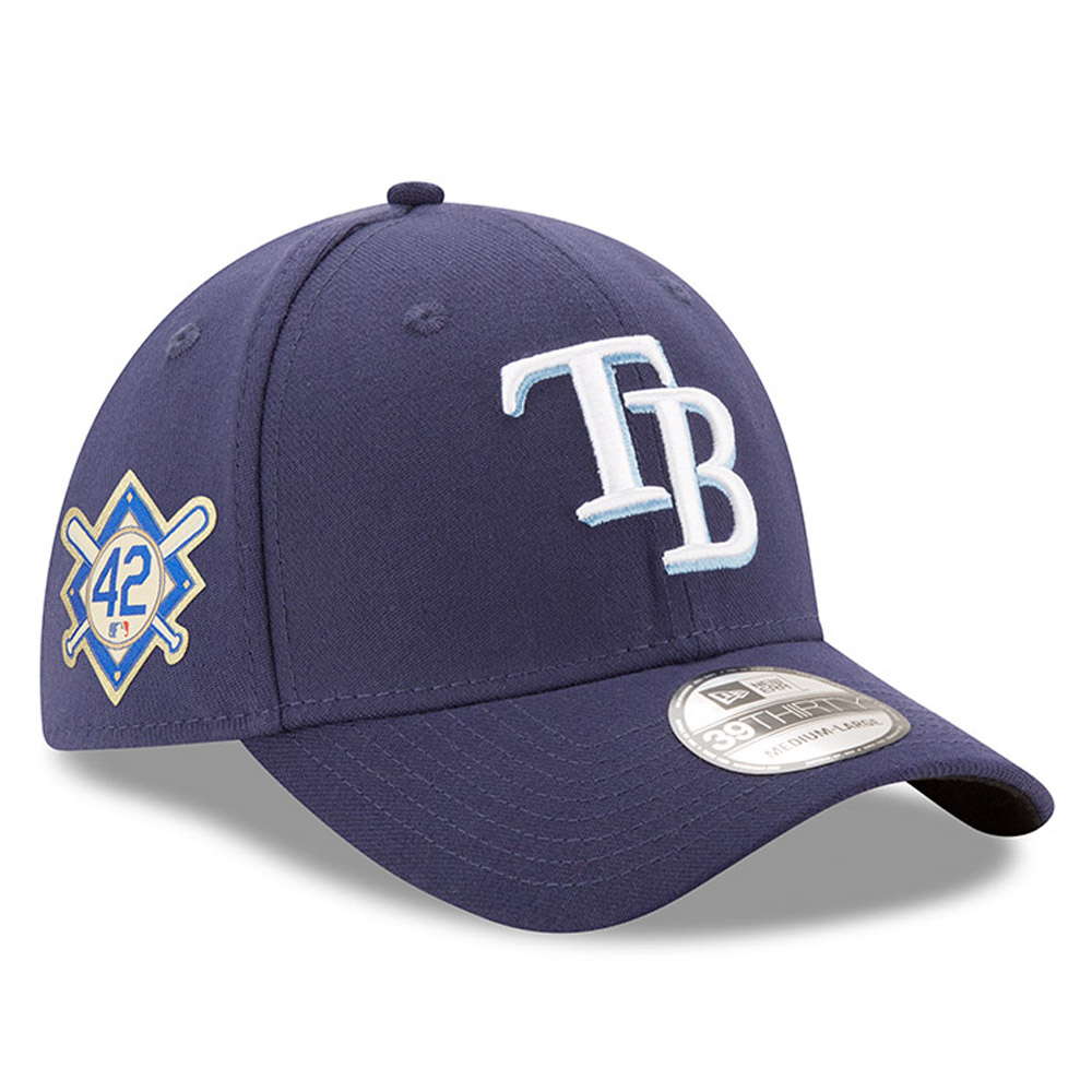 Tampa Bay Rays New Era Jackie Robinson Day 39THIRTY Flex Hat - Navy