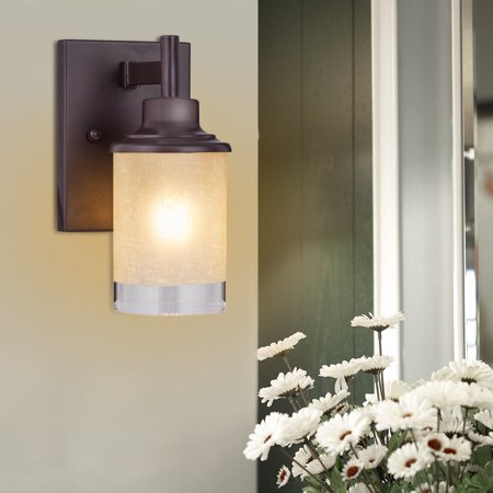 Costway Vanity Light Wall Mounted One-Light Bathroom Vanity Fixture Antique Bronze Bulb