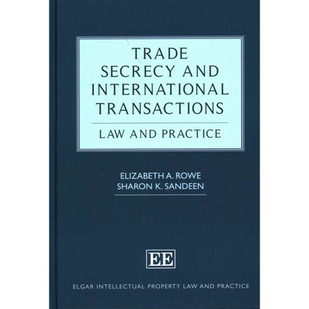 Trade Secrecy And International Transactions  Law And Practice