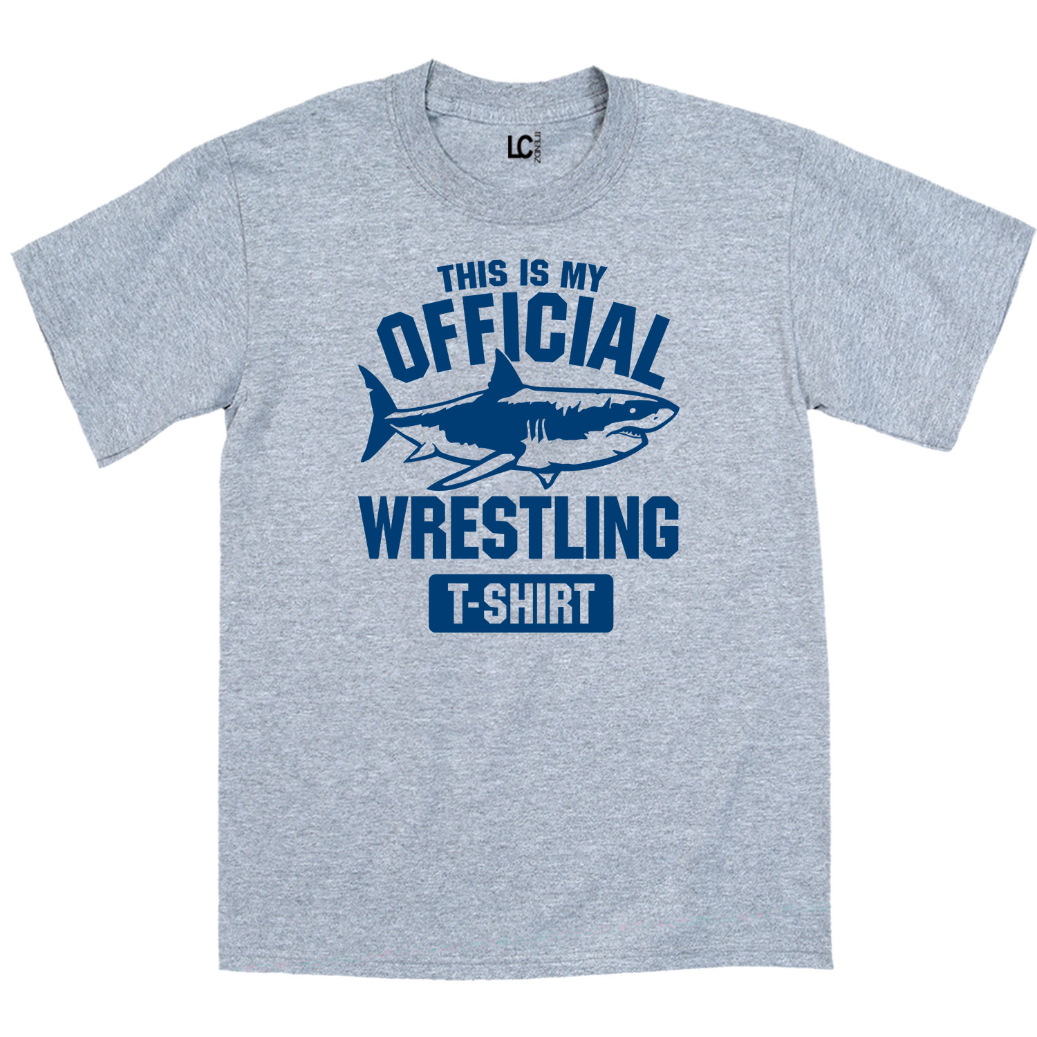 This Is My Official Wrestling Shirt Shark Athletic Sports Novelty - Mens T-Shirt