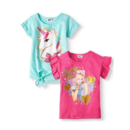 JoJo Simply Me and Unicorn Glitter Graphic T-Shirts, 2-Pack (Little Girls & Big - Little Pixie Clothes