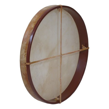 DOBANI Pretuned Goatskin Head Wood Frame Drum w/ Beater (Diameter Standard Frame)