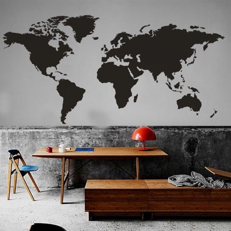 Imeshbean peel and stick wallpaper world map wall decal vinyl office imeshbean peel and stick wallpaper world map wall decal vinyl office inspirationhomemural gumiabroncs Images