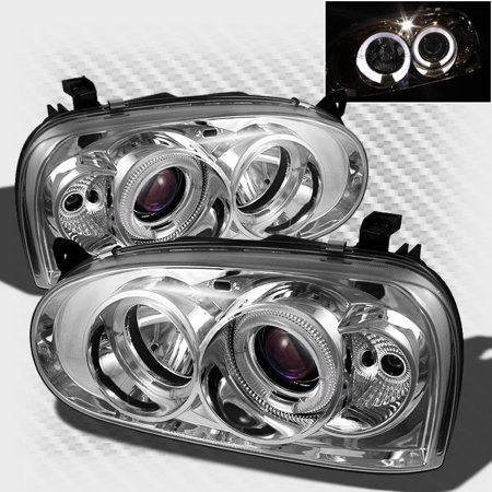 For 1993 1998 Vw Golf 1995 2002 Cabrio Twin Halo Projector Headlights Front Lamps Pair Left Right 1994 1996 1997