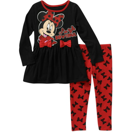 8095e38fb3d Minnie Mouse - Minnie Mouse Baby Toddler Girl Bow Tunic and Leggings ...