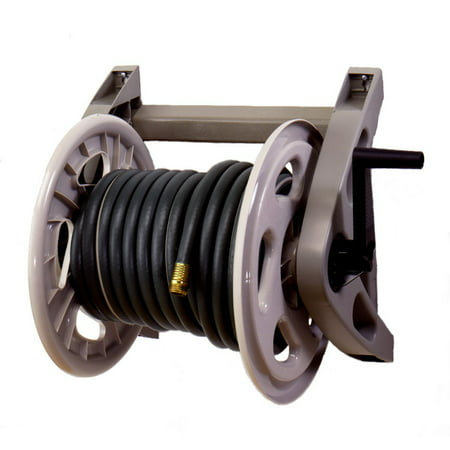 Suncast Hose Handler 200' Capacity Wall-Mounted Resin Hose - 300 Capacity Hose Reel