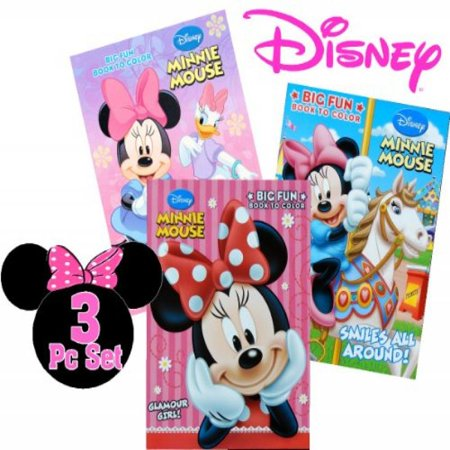 Disney Minnie Mouse Coloring Book (3 Books ~ 96 Pages - Minnie Mouse Coloring