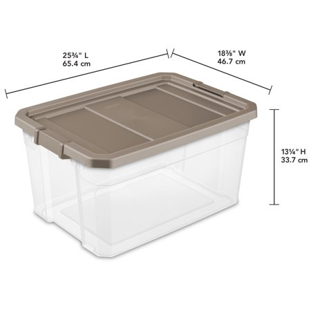 Sterilite, 76 Qt./72 L Stacker Box, Taupe Splash