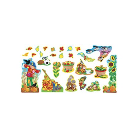 Trend Enterprises 26 Piece Fall Things Bulletin Board Cut Out - Fall Cut Outs