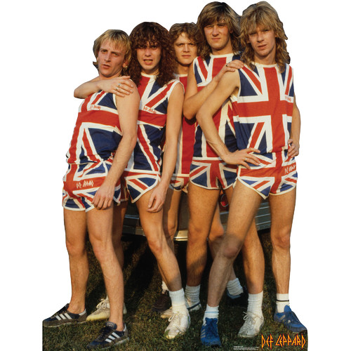 Advanced Graphics Def Leppard 1983 Cardboard Standup