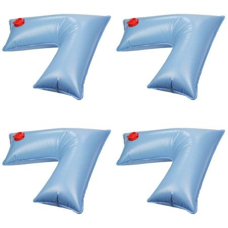 Swimline 2x2 Feet Corner Water Tube Winterizing Pool Cover Weight, Blue (4  Pack)