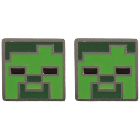 Earrings   Minecraft   Zombie Stud Licensed J6651