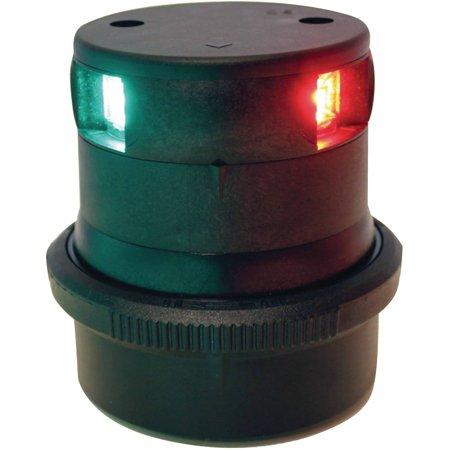 Radome Mast Mount - Aqua Signal 34606 Series 34 LED 12V/24V Navigation Light Slim Design, Tricolor Mast Mount, Black