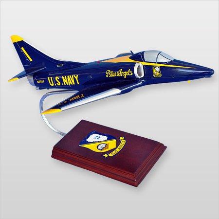 A-4 Skyhawk Blue Angels Wood Desktop Model (Blue Angels Model Kit)