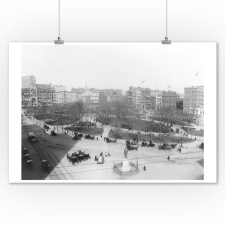 Union Square from the Southwest NYC Photo (9x12 Art Print, Wall Decor Travel Poster)