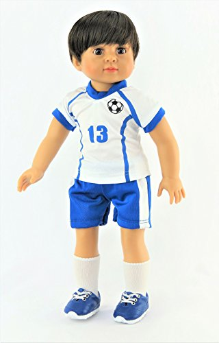 """Mason the Super Soccer Player 4-piece Outfit with Boy Doll- Fits 18"""" American Girl... by"""
