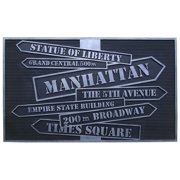 """New York' Design Rubber Hand Finished Doormat 18"""" X 30"""""""