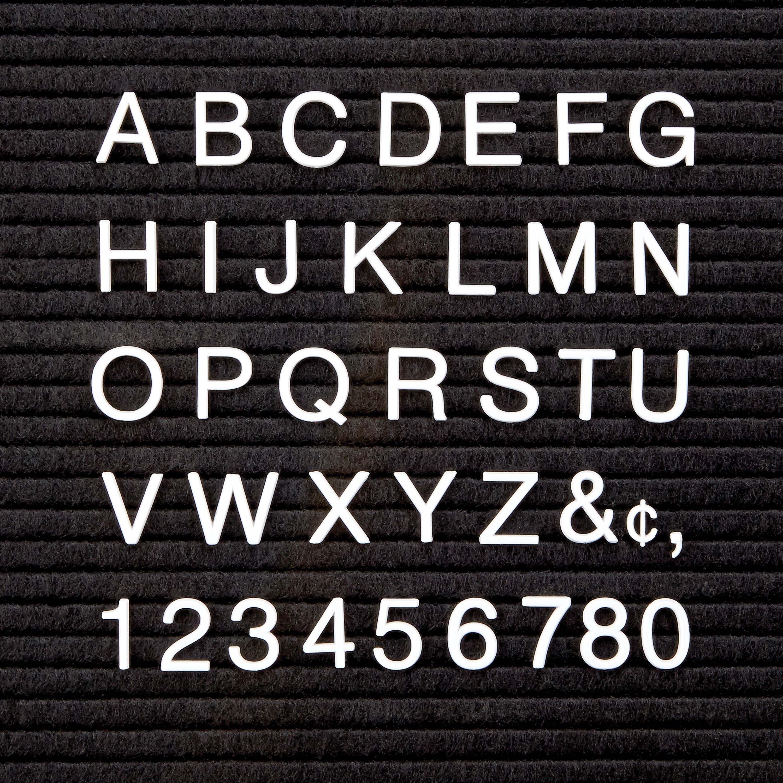 Quartet, QRT4423, White Plastic Helvetica Letter Set, 300 / Set, White