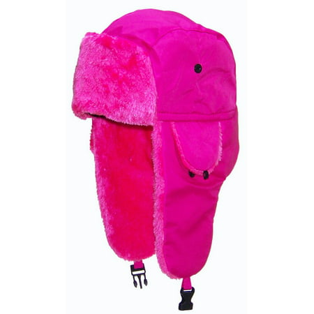 fb664d2a30a7f Best Winter Hats Lightweight Neon Russian Trooper Faux Fur Hat (One Size) -  Pink - Walmart.com