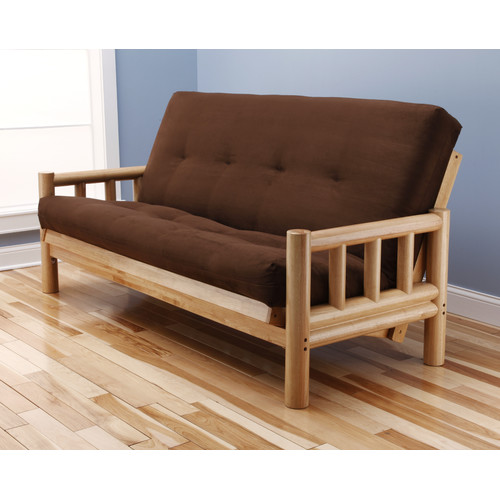 Loon Peak Aerial Suede Futon and Mattress
