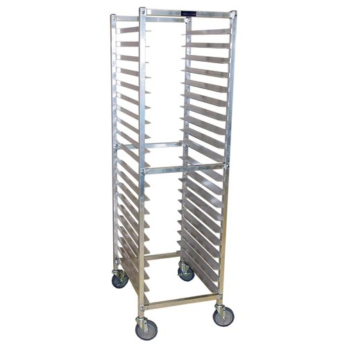"PVIFS WE2018KD W Series Knock-Down End Load Pan Rack, 30 Pan Capacity, 25"" Length x 20-1/4"" Width x 71-1/2"" Height"