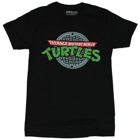 Teenage Mutant Ninja Turtles Mens T-Shirt - TMNT Sewer Lid Logo (Tmnt Onesie For Men)