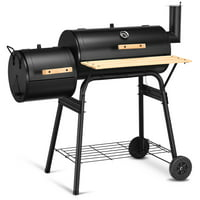 Costway Outdoor BBQ Grill Charcoal Barbecue Pit Patio Backyard Meat Cooker Smoker