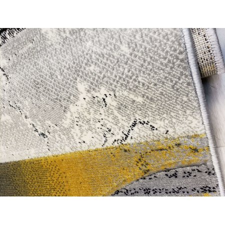 Ladole Rugs Golden Mustard Yellow And Black Modern