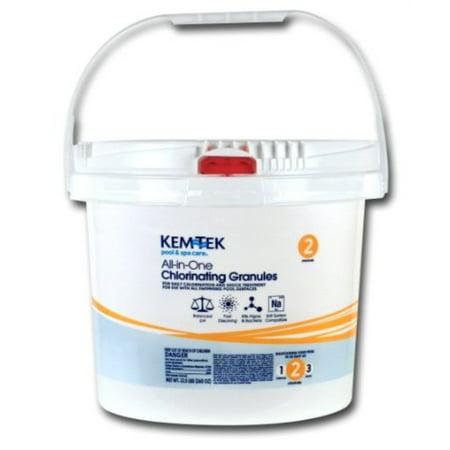 kem-tek 013 pool and spa all-in-one concentrated chlorinating granules, 22-1/2-pound - Kem Tek Spa