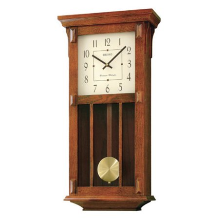 Seiko Mission Pendulum Wall Clock - 12.5-in. Wide