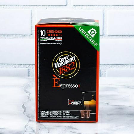Caffe Vergnano Espresso Capsules for Nespresso Machines - Cremoso (50 (Lavazza Espresso Point Capsule Machine)