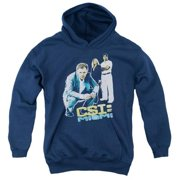 Trevco Csi-Miami-In Perspective - Youth Pull-Over Hoodie - Navy, Small
