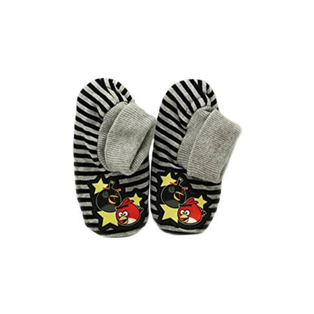 "Angry Birds ""SQUAK AMONGST YOURSELVES"" Slipper Stripe Socks - Size 2 - 3 M/L"